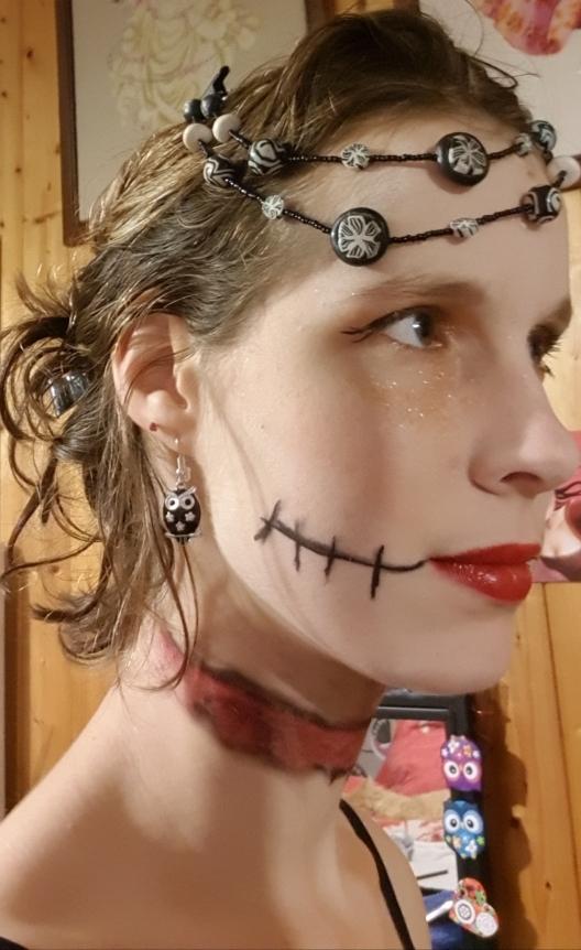 Maquillage profile droit Halloween 2018